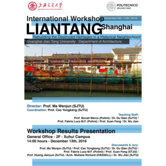 Liantang. Rebuilding the destroyed heritage in a historical neighborhood