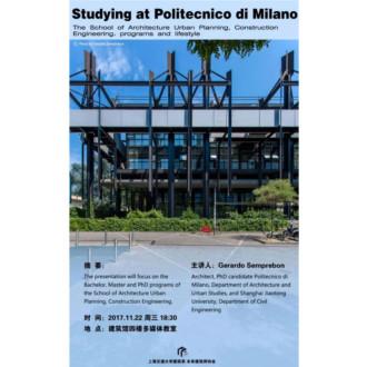 STUDING AT POLITECNICO DI MILANO – SJTU 2017
