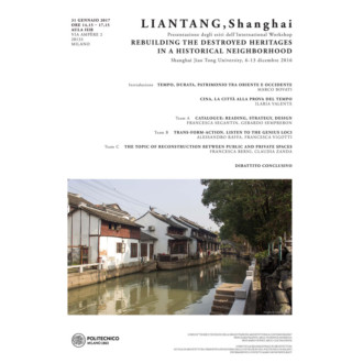 Liantang. The rebuilding of destroyed heritages in historical neighborhoods